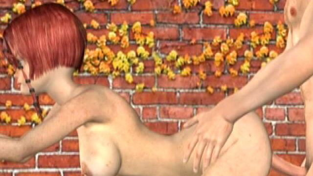 Lustful Redheaded 3-d Female Friend With Huge Udders Misty Will Get Shaged Domestic Dog On The Wall