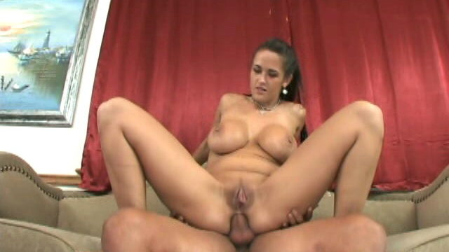 Massive Titted Brunette Carmella Bing Sucking An Enormous Cock In A Threesome