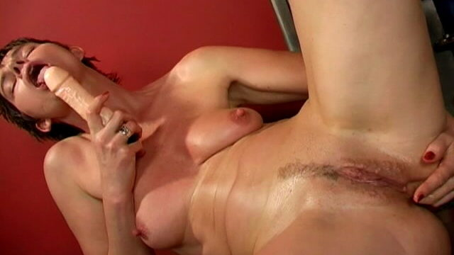 Quick Haired Brunette Grandma Marketa Dildos Rear And Rubs Her Pussy