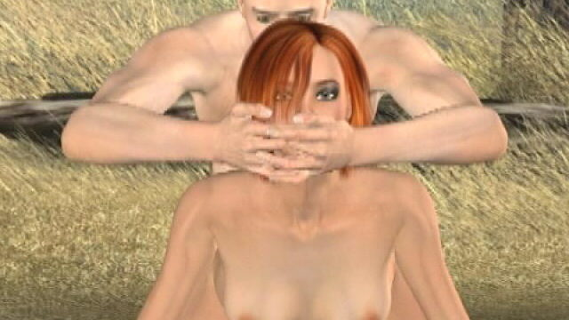 Slutty Redheaded 3d Tremendous Mannequin Tammy Will Get Nailed Doggy Open Air