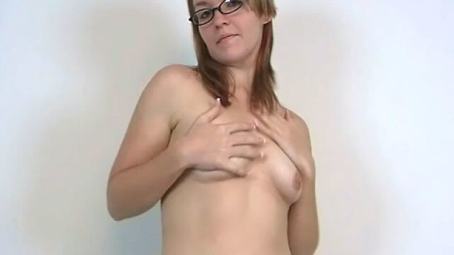 Stockinged Unexperienced Teenager Babe In Glasses Heidi Showcasing Her Puffy Bra-stuffers And Dancing Temptingly For You
