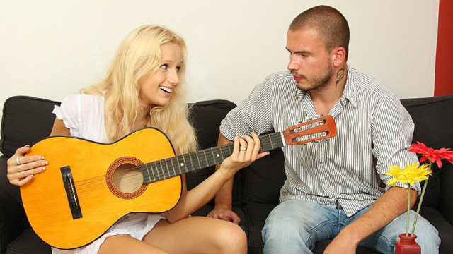 Guitar Toying Bro Smashes His Gf