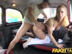 Faux Cab Nurse In Jaw-dropping Undergarments Has Automotive Bang-out