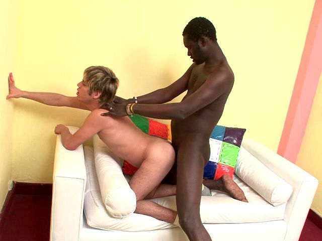 Orgiastic Blond Unexperienced Faggot Cristian Getting Ass Penetrated Doggy-style By Way Of Ebony Cristian