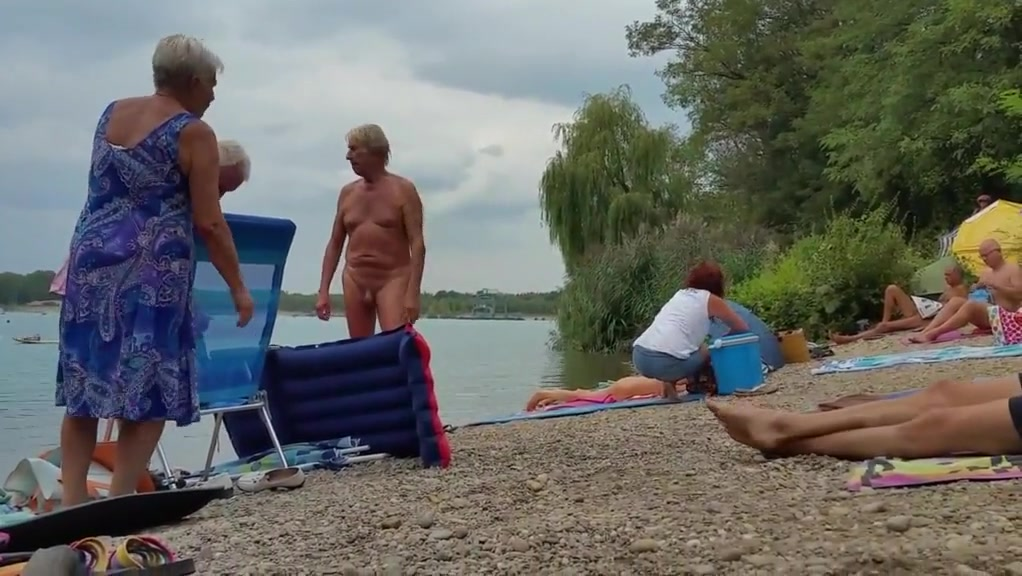 Naturist Granddad On The Seaside – Three