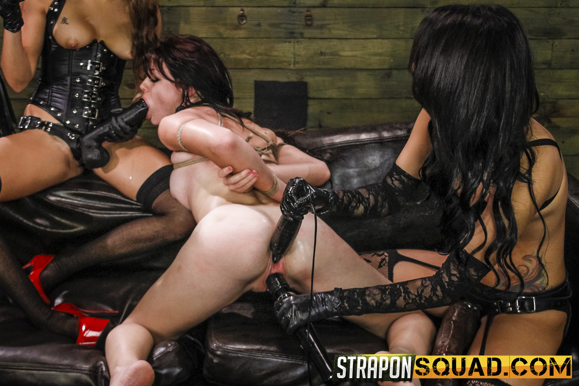 Sapphic Dominance & Sybian Saddle 3 Way With Kaisey Dean, Marina Angel, Esmi Lee