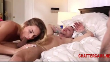 Ash-blonde Honey Will Get Harsh Banged While Spouse Sees