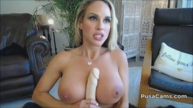 Super-hot Light-haired With Enormous Mommas And Enormous Bum Lubed Fake Penis Sport