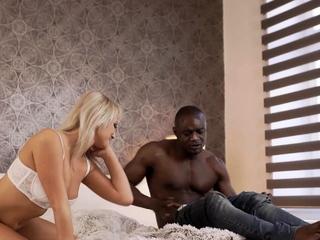 Black4k. Playing Ash-blonde Lady Is Smashed Via Crafty Dark-hued