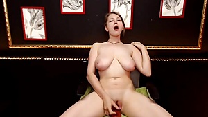 Faux-cock Joy On The Stool
