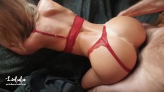 Steaming Handsome Gf In Crimson Underwear Pound & Busts!! Inexperienced Duo Leolulu