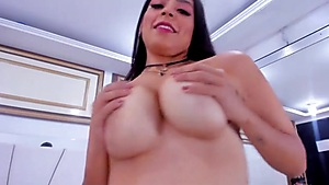 Super-cute Latina Frolicking With Her Faux-cock
