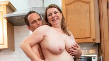 Huge-titted Mommy Pummels Within The Kitchen